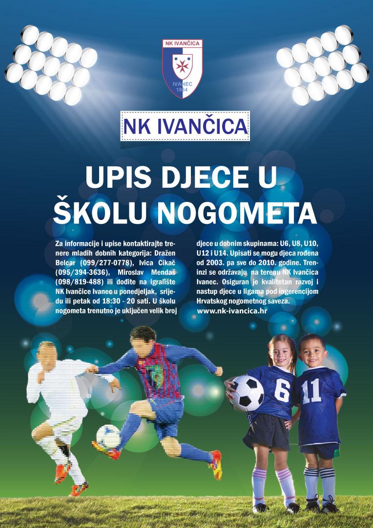 NK Ivančica Ivanec - upisi u školu nogometa - 2017